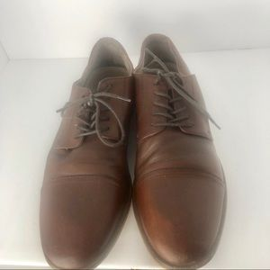 Aston Gray brown leather shoes size